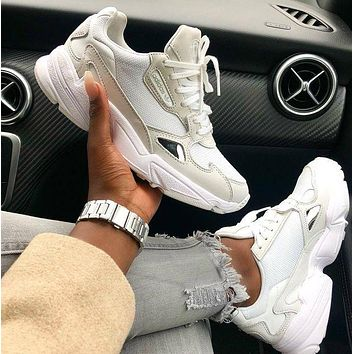 ADIDAS FALCON Old Fashionable Women Men Sport Running Shoes Sneakers