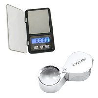 Digital Jewelry Pocket Gram Scale Balance 0.01g x 300g/100g Jeweler Loupe  D_L = 1713247044