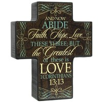 Now Abide Standing Block Cross | Shop Hobby Lobby