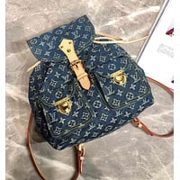 LV Louis Vuitton MONOGRAM JEANS CANVAS BACKPACK BAG