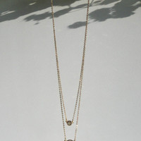 Dazzle Me Gold Rhinestone Layered Necklace