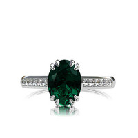 Blue Green tourmaline ring, diamond, white gold, engagement ring, tourmaline engagement, green gemstone, solitaire, vintage style, oval cut