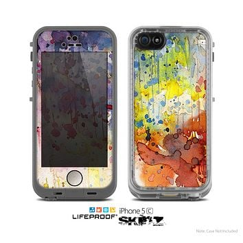 The WaterColor Grunge Setting Skin for the Apple iPhone 5c LifeProof Case