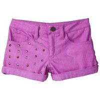 D-Signed Girls' Denim Shorts - Lilac