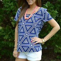 X Marks The Spot Top, Navy