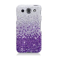 LG E980 OPTIMUS G PRO PURPLE WATERFALL DIAMOND BLING COVER SNAP ON HARD CASE + FREE SCREEN PROTECTOR from [ACCESSORY ARENA]