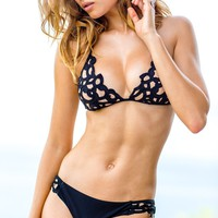 Sauvage Lavish Black Laser Cut Bikini