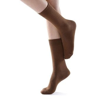 Eva Essential Crew Sock | Brown