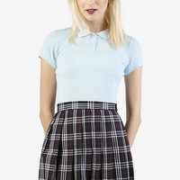 High Waisted School Girl Pleat Skirt
