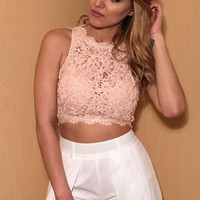 Sleveless Corded Lace Crop Top (more colors) - FINAL SALE