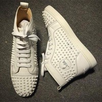 DCCK Cl Christian Louboutin Louis Spikes Style #1863 Sneakers Fashion Shoes