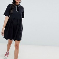 ASOS DESIGN smock polo dress with contrast tipping | ASOS
