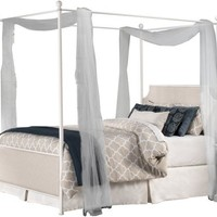 1999 McArthur Canopy Bed Set - Off-White Finish - King - Bed Frame Included