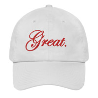 "The ""Great"" Dad Hat (White/Red)"