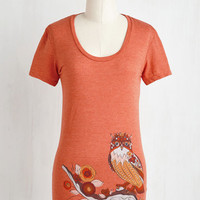 Critters Mid-length Short Sleeves Owl-ive Branch Tee