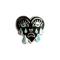 Crying Heart Pin