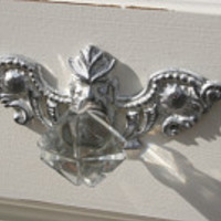 9 - backplates / furniture appliques / knob backplates / hardware accessories / DIY appliques / architectural pieces
