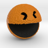 Pacman pixelated from 'PIXELS 2015' movie by kipiripi on Shapeways