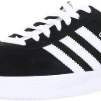 adidas Originals Men's Gazelle Lace-Up Sneaker,Black / Running White,9.5 M