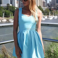 HEART CUT OUT DRESS , DRESSES, TOPS, BOTTOMS, JACKETS & JUMPERS, ACCESSORIES, SALE, PRE ORDER, NEW ARRIVALS, PLAYSUIT, COLOUR, GIFT CERTIFICATE,,Blue,CUT OUT,BACKLESS,SLEEVELESS Australia, Queensland, Brisbane