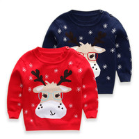 Boys / Girls Kids Knitted fawn pattern  Pullovers / Warm Outerwear  Sweaters