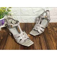ysl women casual shoes boots fashionable casual leather women heels sandal shoes 164