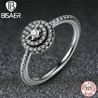 12 STYLE Original 925 Sterling Silver Sparkling Bow Knot Bouquet Daisy LOVE Flower Ring CZ Compatible With Pandora Fine Jewelry