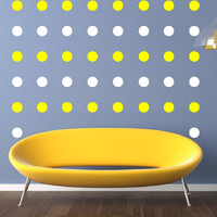 Wall Decals Polka Dots Circles 3 Inch Set of 48 Childrens Room Nursery Decor 22401
