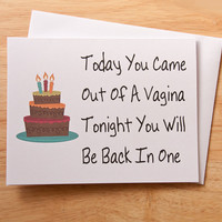 Birthday Card, Naughty Card, Dirty Card, Card For Boyfriend, Boyfriend Gift, Boyfriend Birthday, Vagina Card, Sexy Card, Husband Birthday