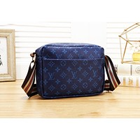 LV Louis Vuitton Fashion Women Shopping Leather Satchel Shoulder Bag Crossbody Blue