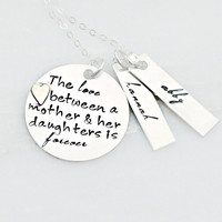 Hand Stamped Jewelry - Mother Daughter Necklace - Sterling Silver Necklace - Mommy Necklace
