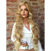 """Marta Light Blonde Highlighted 26"""" Loose Wave Lace Front Wig"""