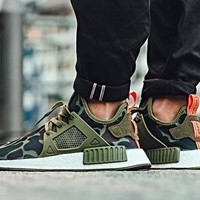 Adidas NMD XR1 Duck Camo / Olive Cargo - BA7232 Running Sport Shoes Camouflage Sneakers