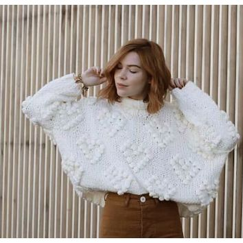 Hot style sells jumpers with thick needles