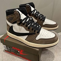 Nike AIR Jordan AJ1 skateboard shoes high top couple shoes student sports casual shoes 1