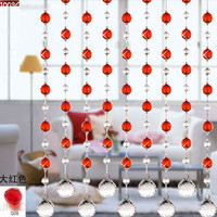 crystal beaded curtain,glass beads curtain, home decor, wedding decoration, wedding accessories, room divider, party decor J-082