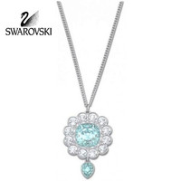 Swarovski Lt Turquoise Crystal Pendant Necklace AZORE Medium #5037453