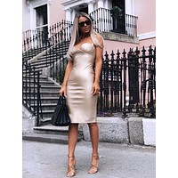 KoKo Vegan Leather Pencil Dress