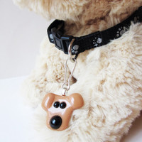 Dog collar jewelry, dog charm, dog accessory, dog lover gift, gift for dog lover, dog leash accessory, pet jewelry