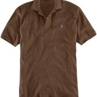 Polo Ralph Lauren Classic-Fit Brown Heather Mesh Polo