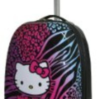 Hello Kitty Animal Print 16in Rolling Luggage