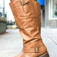 The Equestrian Lover's Boot - Cognac