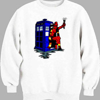 deadpool has the TARDIS Sweater for Mens Sweater and Womens Sweater ***