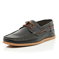 River Island MensBrown gum sole boat shoes