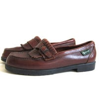 Vintage Brown leather Eastland Loafers / Deck Shoes / Moccasins / women's size 7