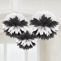Black & White Fluffy Decorations