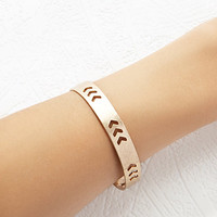 Chevron-Cutout Bangle