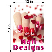 Nail Designs 09 Wallpaper Poster Decal with Adhesive Backing Wall Sticker Decor Indoors Interior Sign Vertical