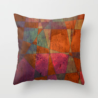 Baroque Cubism Throw Pillow by Tony Vazquez