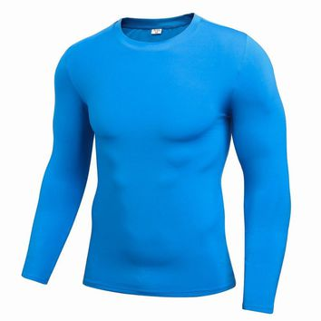 Men Compression Long Sleeve Quick-Dry Sweat